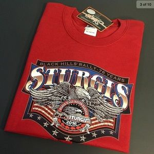 STURGIS 2XL  MOTORCYCLE T SHIRT. RED